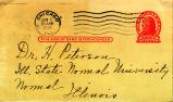 Foote, Frances -- Postcard to Dr. H. Peterson