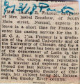 Frazeur, Laurie Renshaw -- News Clipping